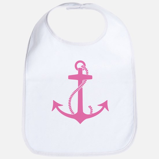 Pink Anchor Bib