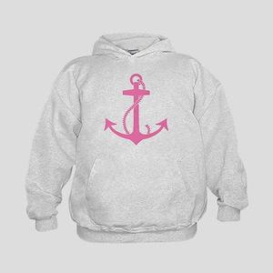 Pink Anchor Kids Hoodie