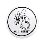 """USS Hornet (CV 8) 3.5"""" Button"""