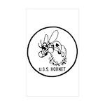 USS Hornet (CV 8) Rectangle Sticker 50 pk)