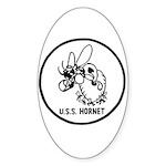 USS Hornet (CV 8) Oval Sticker (50 pk)