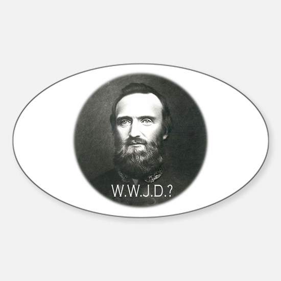 What Would Jackson Do? Oval Decal