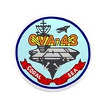 """USS Coral Sea (CVA 43) 3.5"""" Button (100 pack)"""