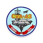"""USS Coral Sea (CVA 43) 3.5"""" Button"""
