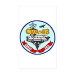 USS Coral Sea (CVA 43) Rectangle Sticker 10 pk)