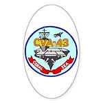 USS Coral Sea (CVA 43) Oval Sticker (50 pk)