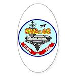 USS Coral Sea (CVA 43) Oval Sticker (10 pk)