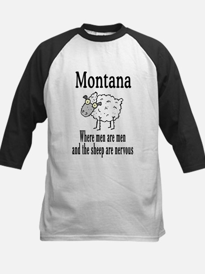Montana Sheep Kids Baseball Jersey
