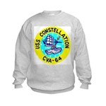 USS Constellation (CVA 64) Kids Sweatshirt