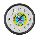 USS Constellation (CVA 64) Large Wall Clock