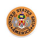"USS America (CVA 66) 3.5"" Button (100 pack)"