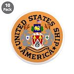 "USS America (CVA 66) 3.5"" Button (10 pack)"
