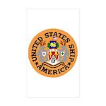 USS America (CVA 66) Rectangle Sticker 50 pk)
