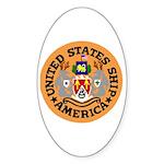 USS America (CVA 66) Oval Sticker (10 pk)