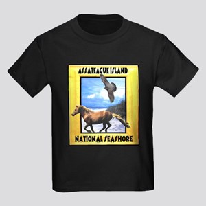Assateague island national Se Kids Dark T-Shirt
