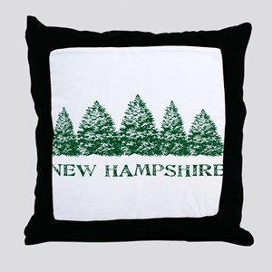NH Winter Evergreens Throw Pillow