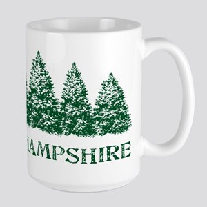 NH Winter Evergreens Large Mug