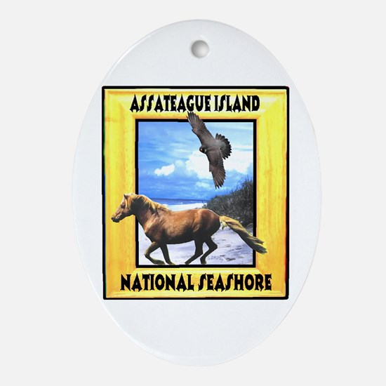 Assateague island national Se Oval Ornament