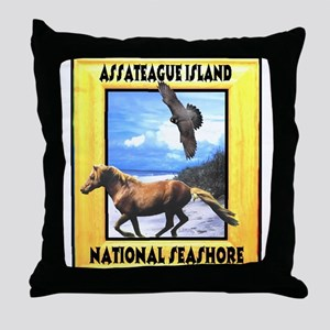 Assateague island national Se Throw Pillow