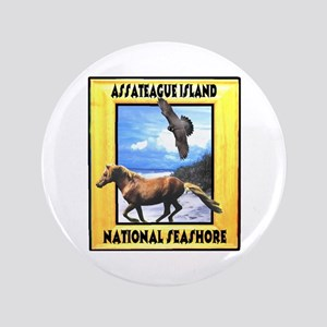 "Assateague island national Se 3.5"" Button"