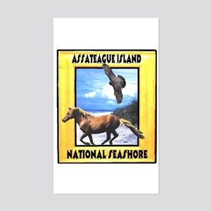 Assateague island national Se Rectangle Sticker