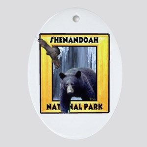 Shenandoah Nationl Park Bear Oval Ornament