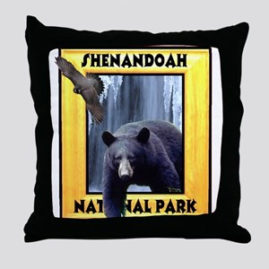 Shenandoah Nationl Park Bear Throw Pillow