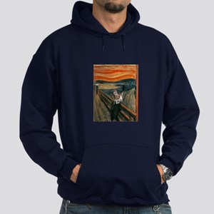 The Scream with Cats Hoodie (dark)