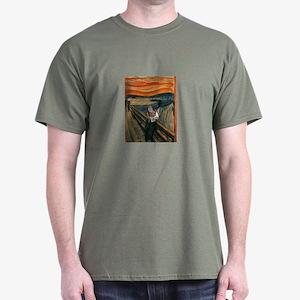 The Scream with Cats Dark T-Shirt