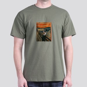 The Scream with Cats Dark T-Shirt