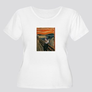 The Scream with Cats Women's Plus Size Scoop Tee