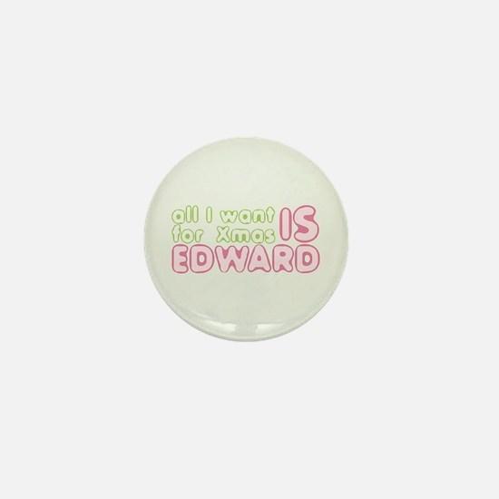 Xmas Edward Mini Button