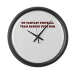 My Fantasy Football Team Bang Large Wall Clock