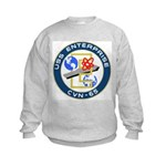 USS Enterprise (CVN 65) Kids Sweatshirt