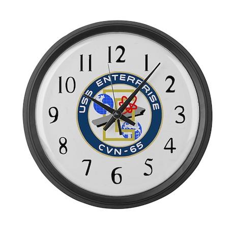 USS Enterprise (CVN 65) Large Wall Clock