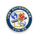 "USS Enterprise (CVN 65) 3.5"" Button (100 pack)"