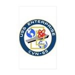 USS Enterprise (CVN 65) Rectangle Sticker 50 pk)