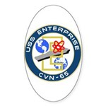 USS Enterprise (CVN 65) Oval Sticker (10 pk)