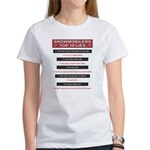 Snowmobilers Top Ten Lies Women's T-Shirt