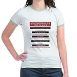 Snowmobilers Top Ten Lies Jr. Ringer T-Shirt