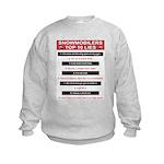 Snowmobilers Top Ten Lies Kids Sweatshirt