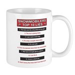 Snowmobilers Top Ten Lies Mug