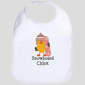 Snowboard Chick Bib