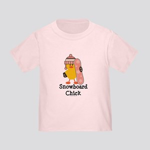 Snowboard Chick Toddler T-Shirt