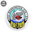 """USS Bennington (CVS 20) 3.5"""" Button (10 pack)"""