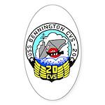 USS Bennington (CVS 20) Oval Sticker (10 pk)
