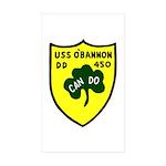 USS O'Bannon (DD 450) Rectangle Sticker 10 pk)