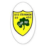 USS O'Bannon (DD 450) Oval Sticker (50 pk)