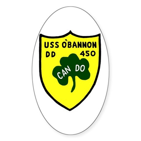 USS O'Bannon (DD 450) Oval Sticker (10 pk)