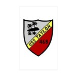 USS Taylor (DD 468) Rectangle Sticker 50 pk)